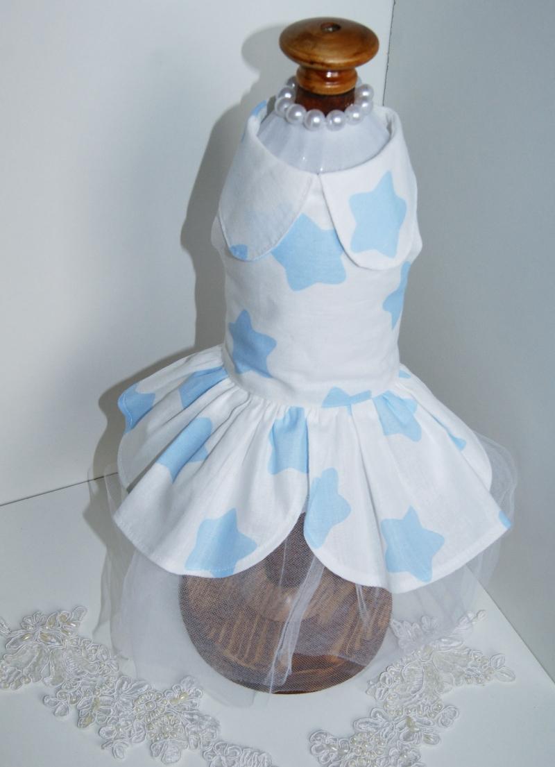 Платье для маленьких пород собак их хлопка
