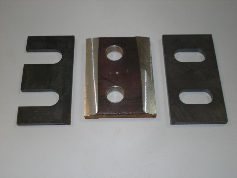 Производим планки П1, У1 на рельсы КР70